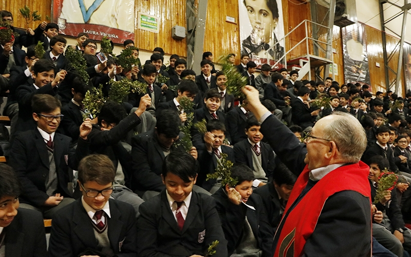 Lunes de ramos en el Instituto Don Bosco.